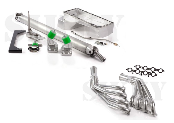 Sikky Stage 2 Nissan 350Z LSx Swap Package (w/ Headers & Power Steering  Lines)