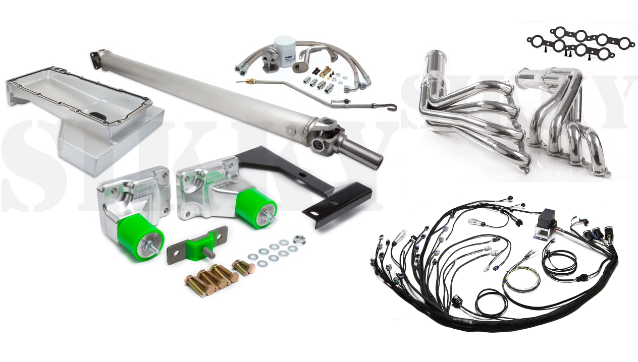 nissan 240sx s13 ls2 swap kit stage 3 sikky